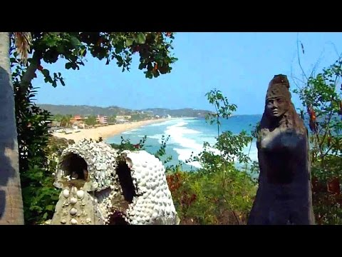 Tour of a hippie spiritual beach resort in Zipolite, Mexico (Shambhala)