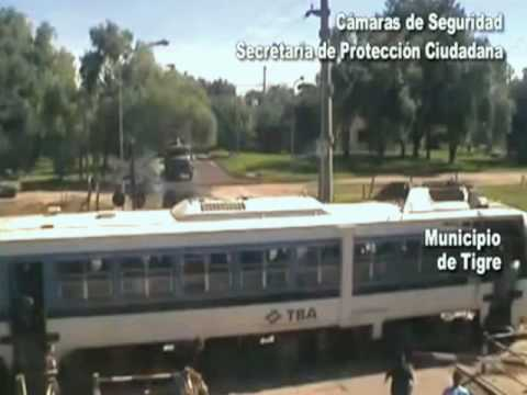 Amazing Man Saves a Car From Being Crushed By Train.  A van stalls out on train tracks in Buenos Aires, and a good citizen manages to push the car to safety just before a train barrels through it.
