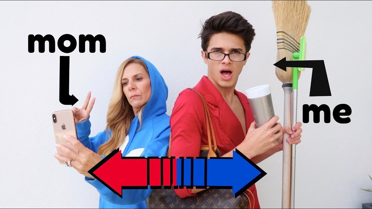 SWITCHING LIVES WITH MY MOM! | Brent Rivera - YouTube