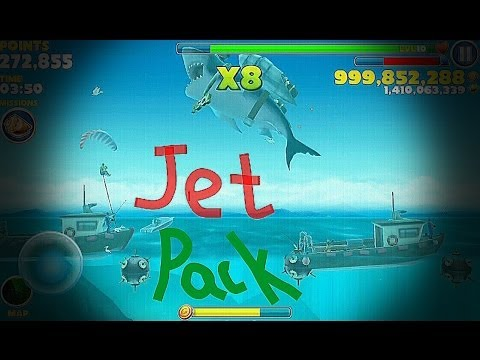 Hungry Shark Evolution JetPack MEGALODON [HD]