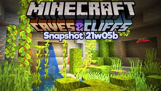 Minecraft 1.17 Snapshot 21w05b • Lush Caves Are My New Favourite Thing • Caves & Cliffs Update