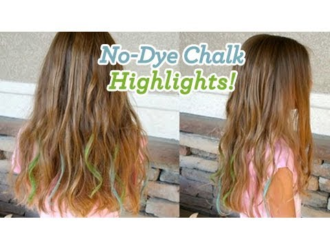 No-Dye Chalk Highlights | Easy Hair Color | Cute Girls Hairstyles