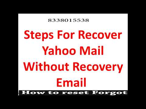 How to reset Yahoo Password without recovery option