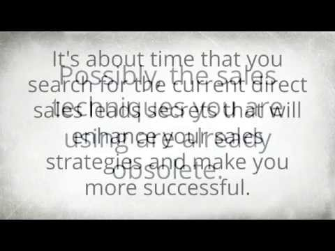 Direct Sales Leads Secrets Everyone Should Use – Grab These Direct Selling Leads Tips