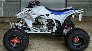 10. 2014 Honda TRX450R Race / Sport ATV Quad Walk-Around Video | Tri-Color TRX450ER