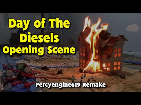 Tomy Day of The Diesels: Opening Fire Scene