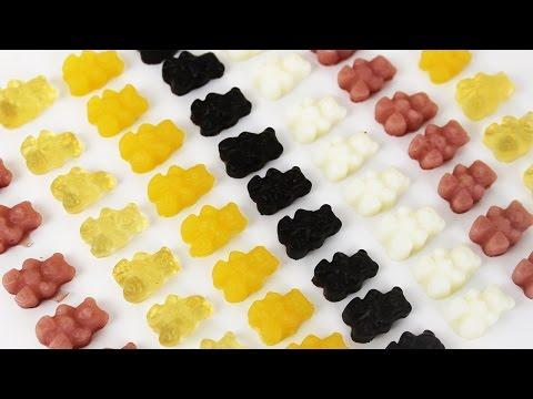 How to Make Healthy Gummy Bears | 健康にいい!手作りグミベア (видео)