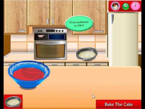 How To Make Sara's Cooking Class Red Velvet Cake Kids Game