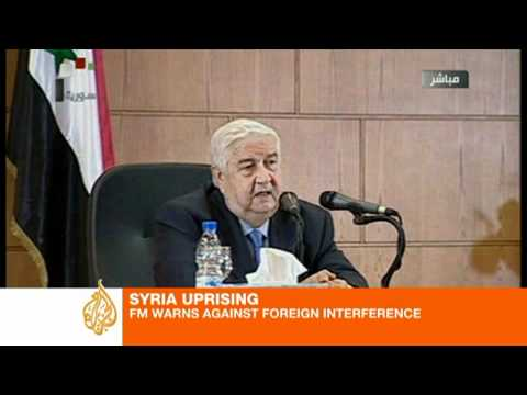 Syrian FM hits back at foreign interference