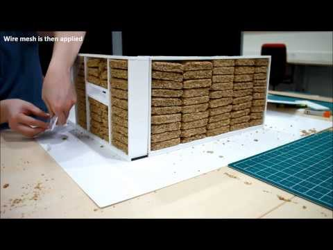 How to build a straw house using modcell prefabricated method.