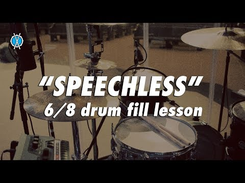 Speechless 6/8 Gospel Drum Fill Lesson