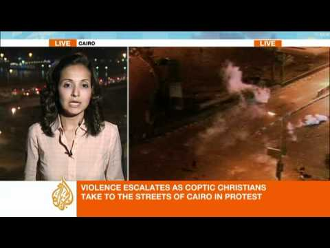Clashes in Cairo over Coptic protests