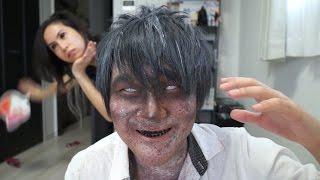 Video 「トミックコラボ」- Tomikku Collab - ゾンビメイク方法(化粧)Zombie Makeup Tutorial MP3, 3GP, MP4, WEBM, AVI, FLV November 2017