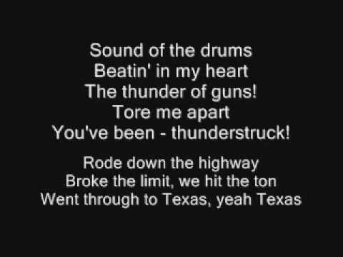 Video AC/DC - Thunderstruck Lyrics download in MP3, 3GP, MP4, WEBM, AVI, FLV January 2017