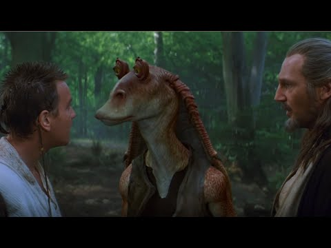 Qui Gon meets Jar Jar Binks | Star Wars: The Phantom Menace (1999)