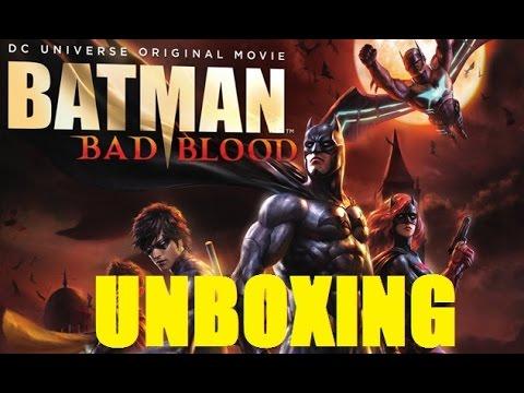 Batman Bad Blood Bluray UNBOXING - DC Comics Anime