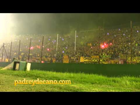 Recibimiento hinchada de Peñarol   Copa Bandes 2015 - Barra Amsterdam - Peñarol