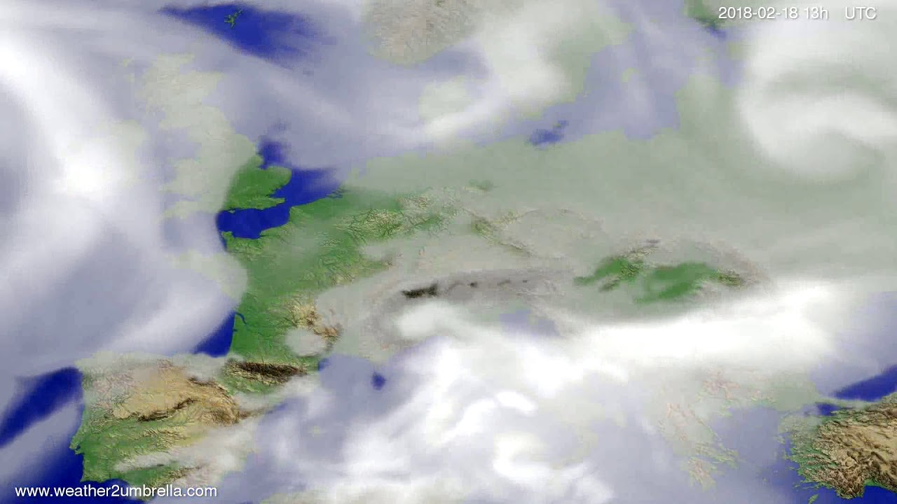 Cloud forecast Europe 2018-02-15