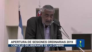 DISCURSO DEL INTENDENTE OMAR FERREYRA: APERTURA DE SESIONES ORDINARIAS DEL CONCEJO DE V GIARDINO