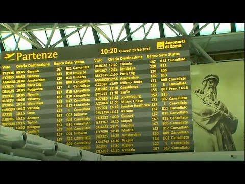 Ιταλία: Σοβαρά προβλήματα στις αερομεταφορές λόγω απεργιών