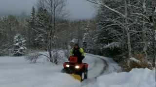8. HONDA RANCHER 420: Snow plowing review