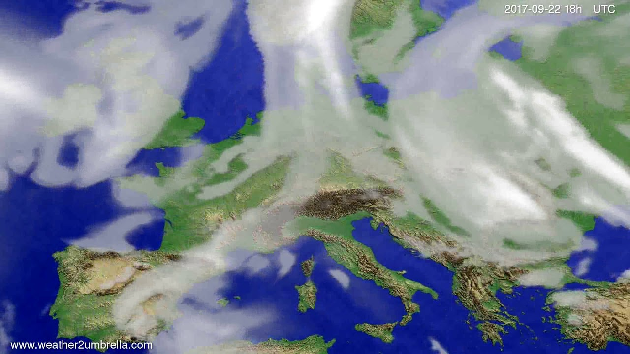 Cloud forecast Europe 2017-09-19