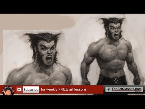 idrawgirls - http://idrawgirls.com/tutorials/2011/12/15/how-to-draw-wolverine/ for step by step images and brushes download. How to draw Wolverine X-men. How to draw Wolv...