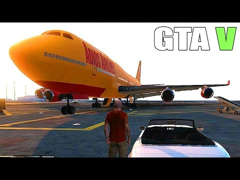 Grand Theft Auto V - How to get a Big plane, Military Base - Tanks and Fighter Jets [#GTAV]
