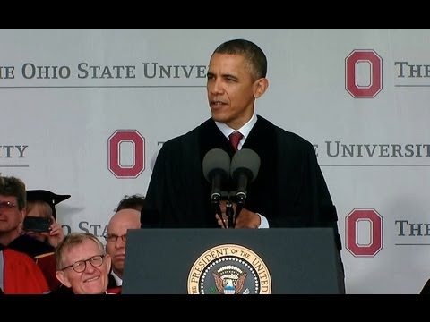 Obama - President Obama delivers the commencement address at The Ohio State University. May 5, 2013.
