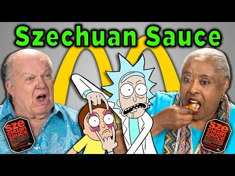 Download ELDERS REACT AND TRY McDONALD'S SZECHUAN SAUCE (Rick and Morty) HD Mp4 3GP Video and MP3