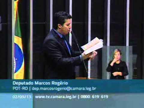 Deputado Marcos Rogério critica em plenário a manutenção do mandato de Natan Donadon