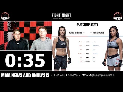 UFC DC: Cynthia Calvillo vs. Marina Rodriguez 2-Minute Prediction