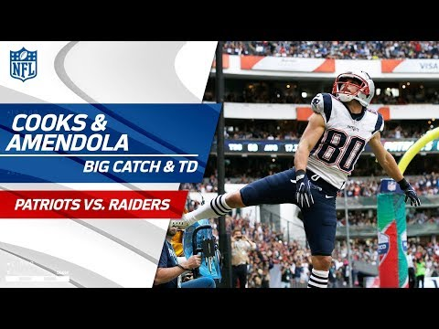 Video: Brady's Bomb to Cooks Sets up Amendola's TD Catch! | Patriots vs. Raiders | NFL Wk 11 Highlights