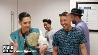 Far East Movement's performance with all of the Power 106 Dj's - Turn Up The Love