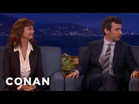 Nathan Fielder Brought Susan Sarandon As A Back-Up Guest  - CONAN on TBS