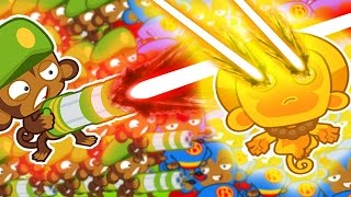 Rays of Doom VS Sungod Temples! - Bloons TD Battles
