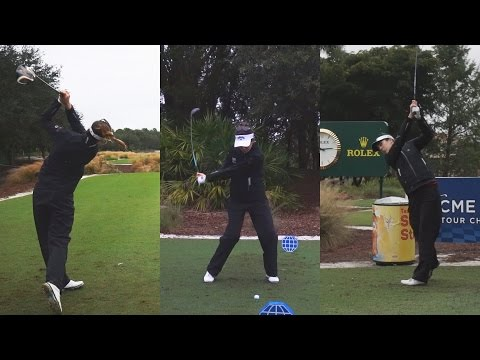 SANDRA GAL GOLF SWING FOOTAGE – 2014 CME CHAMPIONSHIP WITH SLOW MOTION