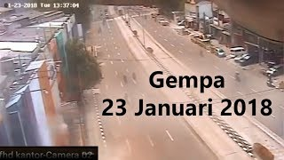 Video cctv Detik-detik Gempa (23/01/2018) MP3, 3GP, MP4, WEBM, AVI, FLV Februari 2018