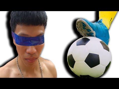 NTN - Thử Thách Bịt Mắt Đá Bóng ( Blindfolded soccer ) - Thời lượng: 10 phút.