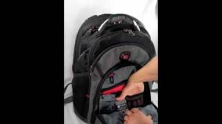 "Swissgear Synergy Backpack 15.4"" Laptop Carrying * Quik Pocket™ with headset port * Shock absorbing shoulder straps * Rear ..."