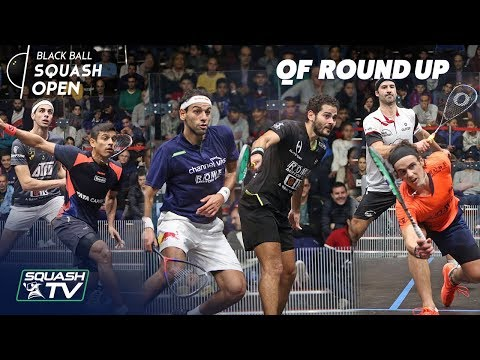 Squash: CIB Black Ball Squash Open 2018 - QF Roundup