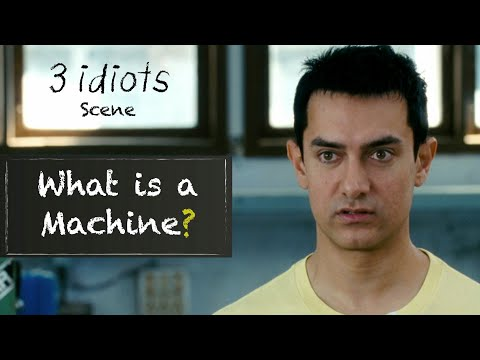 What is a machine? - Funny scene | WhatsApp Status Video | 3 Idiots | Aamir Khan | R Madhavan