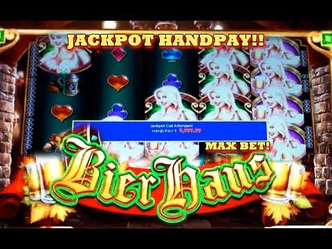 HANDPAY!! Bier Haus – (MAX BET) – Slot Machine Bonus – (WMS) COUNTRY GIRL SPEAKS!!!