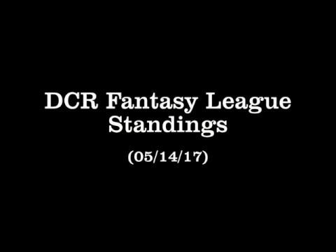 DCR Fantasy League Standings - 05/14/17