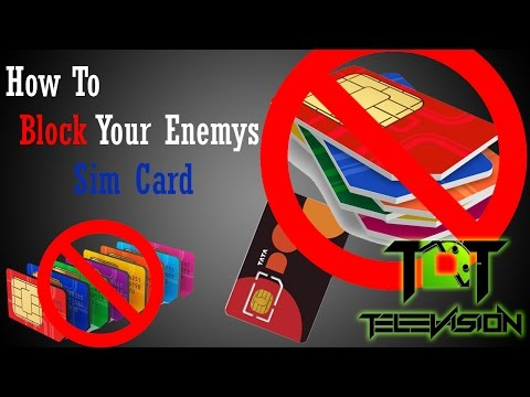 How To Block Enemys Sim Card