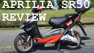 9. Aprilia sr50 review - best 50cc scooter