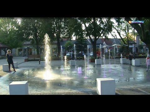 Przebudowa parku na Placu Wolności we Włoszczowie.Uroczyste otwarcie