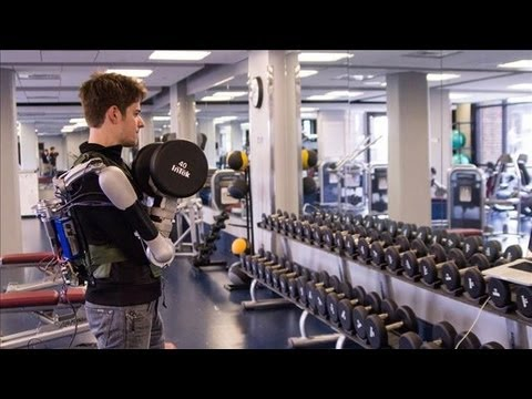 robot - The Titan Arm is a robotic upper body exoskeleton that could be applied to rehabilitation and extra lifting power. Nick McGill, one of the four team members ...