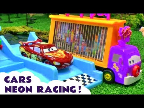Cars Neon Racers Racing Peppa Pig Play Doh Frozen Dora The Explorer Thomas And Friends Spiderman