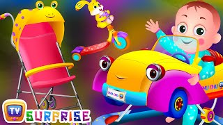 Surprise eggs toy unboxing for kids to learn Baby Vehicles. Make your kids learn different types of vehicles used by babies and little kids. Subscribe to Chu...